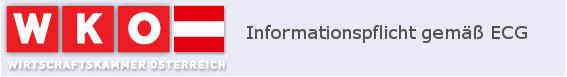 Informationspflicht gemäß ECG der WKO.at
